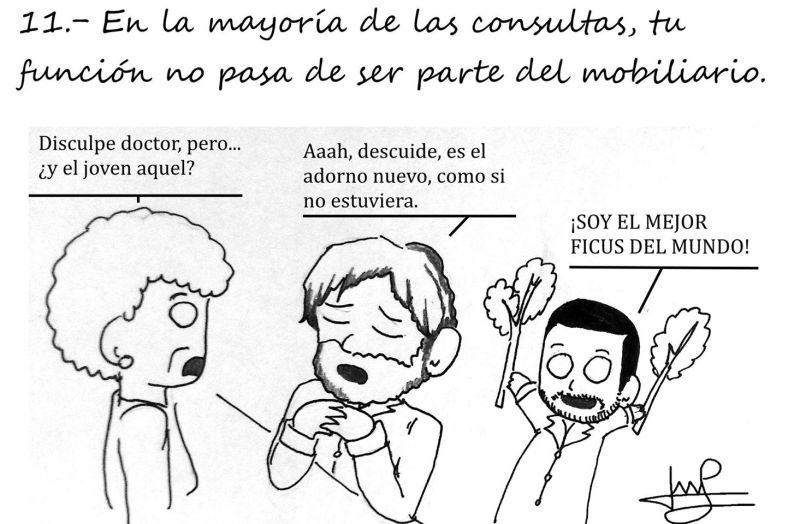 La viñeta de Reglas Médica que da el nombre a esta entrada y resume la situación del estudiante de Medicina Español.